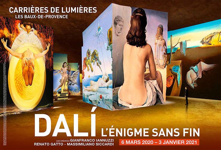 « Dalí, l'énigme sans fin » aux Carrières de Lumières des Baux-de-Provence