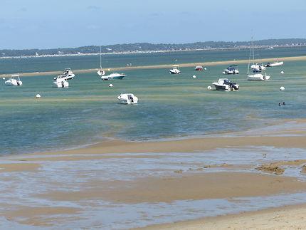 Les plages dans le bassin d'Arcachon