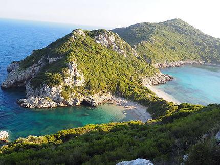 Afionas double beach