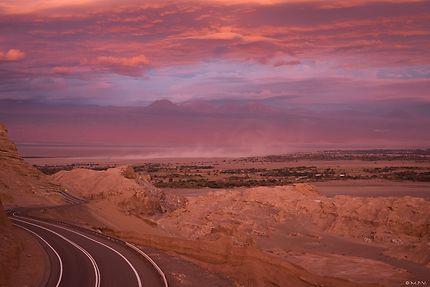 Rosée du soir dans le désert d'Atacama, Chili
