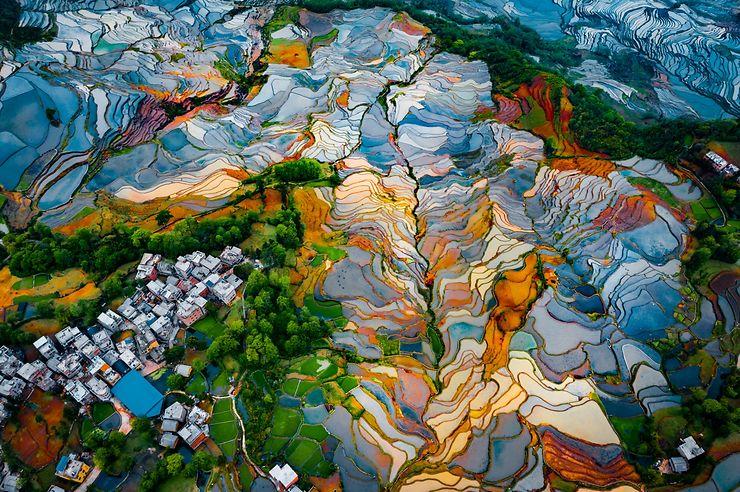 Rizières en terrasses de Duoyishu, Chine