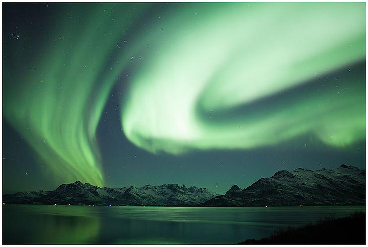 Aurore boréale aux Lofoten, Norvège