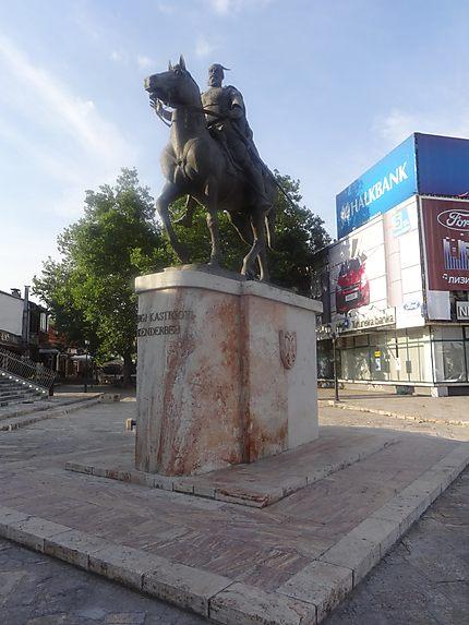 Statue de Skanderberg