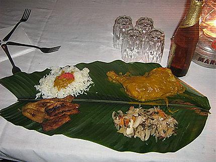 Repas traditionnel gabonais