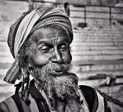 Varanasi, portrait d'homme