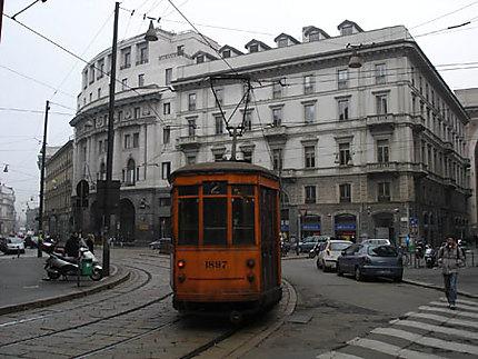 Le tram à Milan