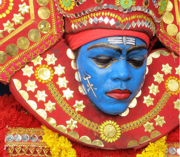 Festival dans le Kerala, Inde