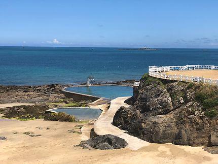 La plage en espaliers