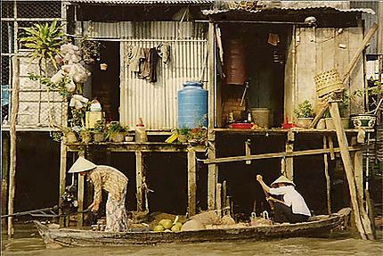 La vie sur les rives du Mekong