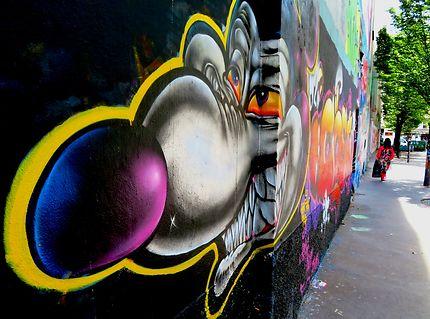 Mur pour les artistes du Street art