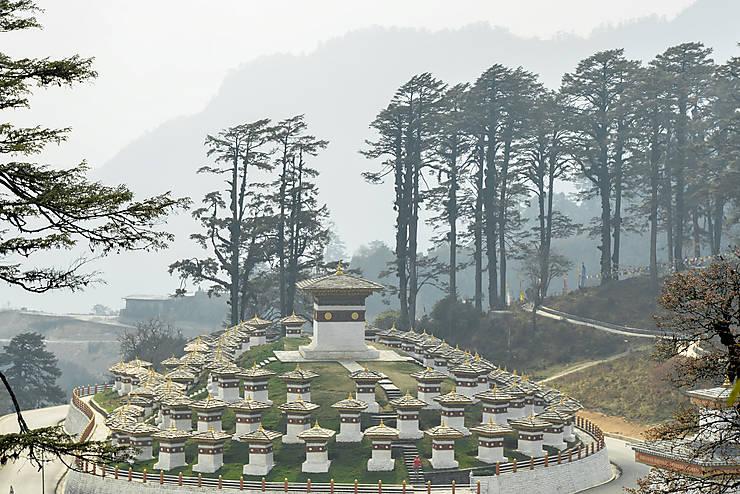 Les stupas de Dochula