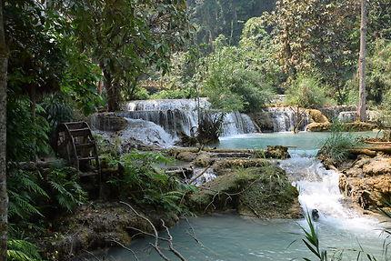 Roue à aube au Laos
