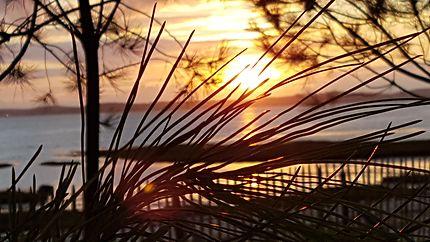 Coucher de soleil à Andernos Les Bains