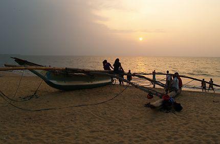 Sunset à Negombo