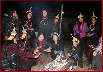 Trek du Jomolari au soir du 6ème jour à Laya