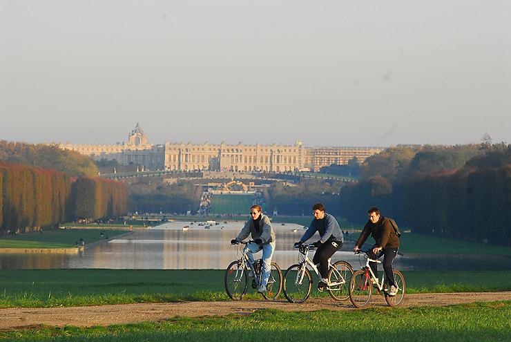Versailles vue de la Bièvre (Yvelines)