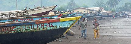 Pirogue au Gabon