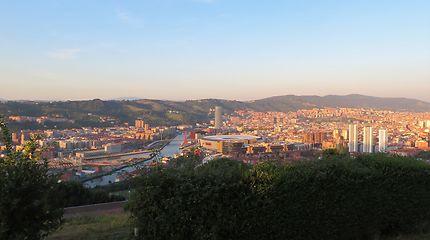 Coucher de soleil à Bilbao