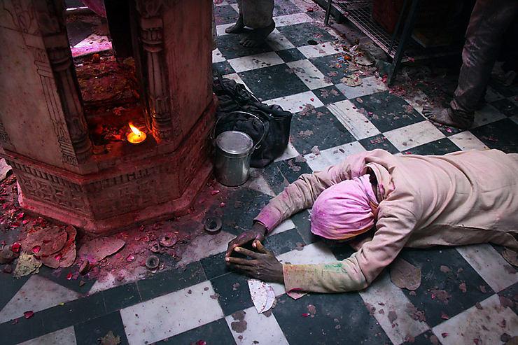 Ferveur hindoue pendant les fêtes de Holi