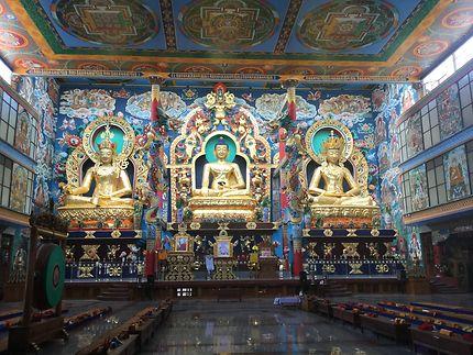Temple bouddhiste à Bylakuppe, près de Mysore