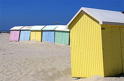 Cabines de plage de Berck-sur-Mer