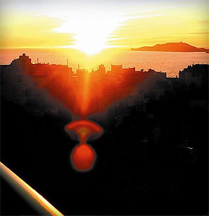 Couché du soleil sur le Vallon des Auffes