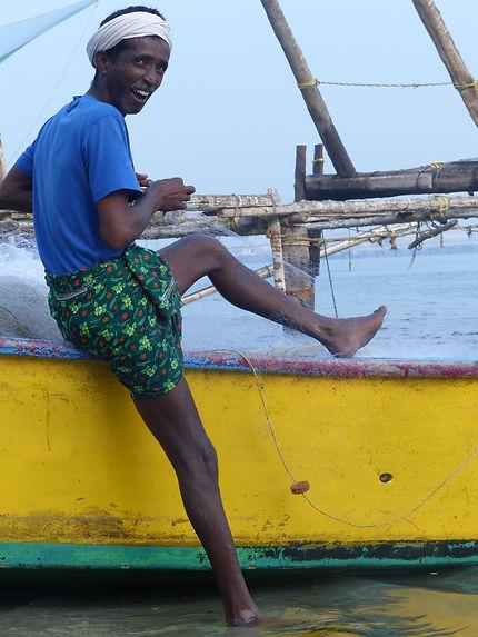 Pêcheur à Kochi, sur le port