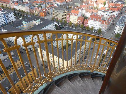 Vue sur Copenhague depuis Frelsers Vor Kirke