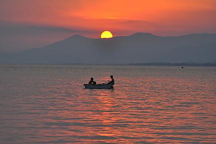 Petite pêche au coucher de soleil