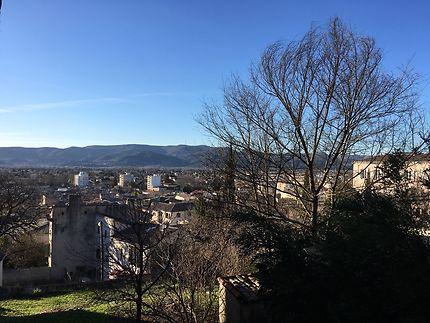 Vue sur Montélimar du château