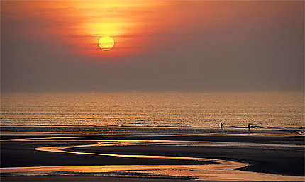 Coucher de soleil sur la Côte d'Opale