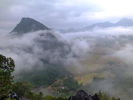 Paysage à Vang Vieng