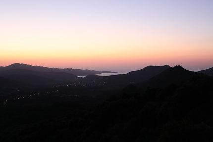 Saint Florent, coucher de soleil