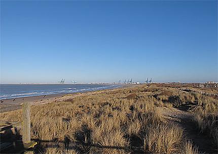 Blankenberge, vue sur Zeebruges