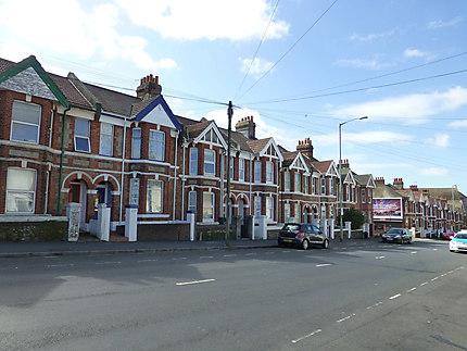 Rue de briques à Brighton