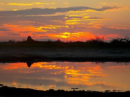 Coucher de soleil dans le delta