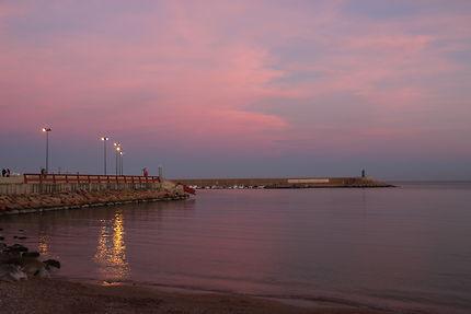 Coucher de soleil au port de Javea