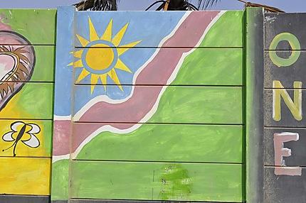 Peinture murale à Swakopmund