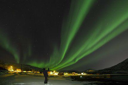 Aurore aux environs de Tromso