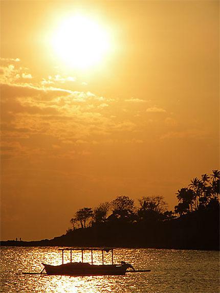 Coucher de soleil sur Senggigi