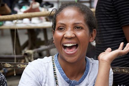 Éclat de rire malgache à Tananarive, Madagascar