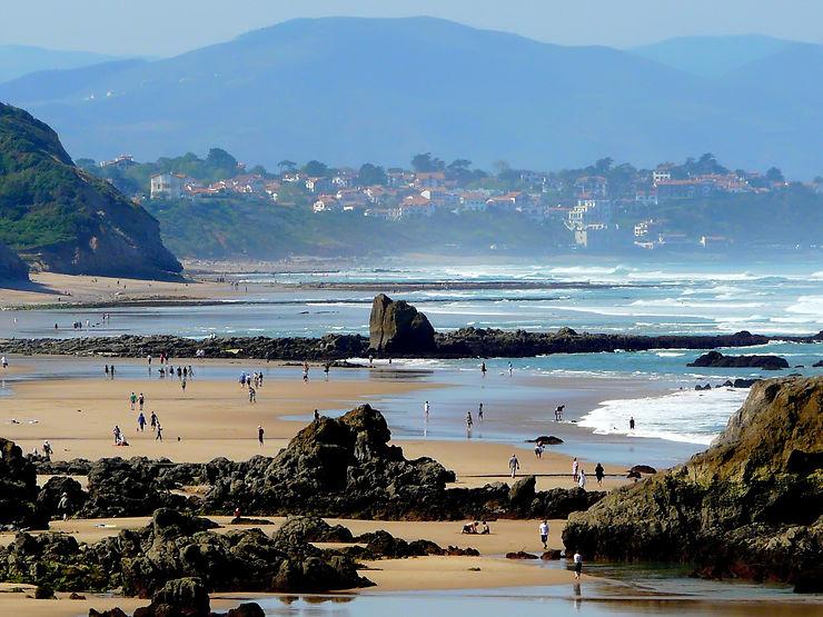 Marée basse en direction de Bidart, Pays-Basque