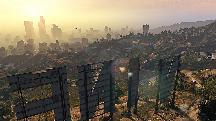 Los Angeles, via « Grand Theft Auto V »