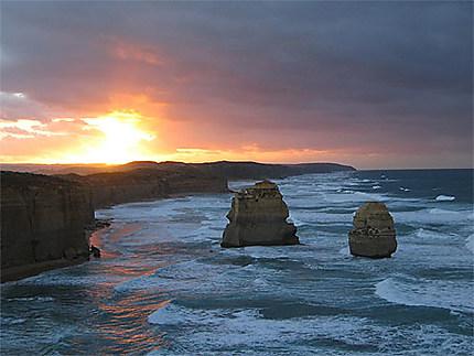 Levé de soleil sur les 12 apôtres