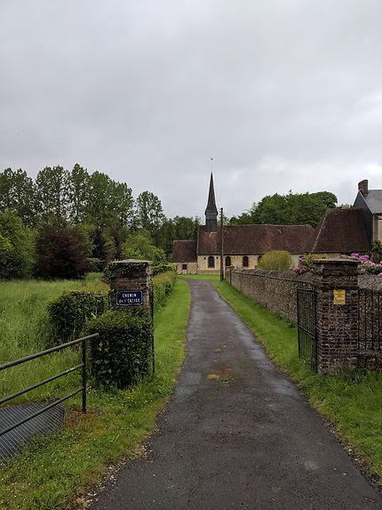 Chemin de l'église (Saint-Hilaire sur Risle)
