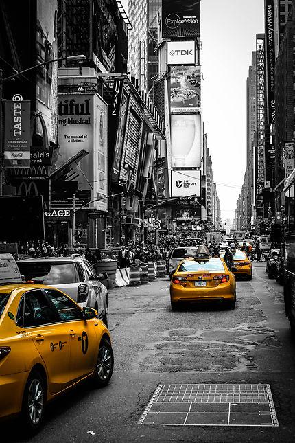 Times Square et ses taxis jaunes