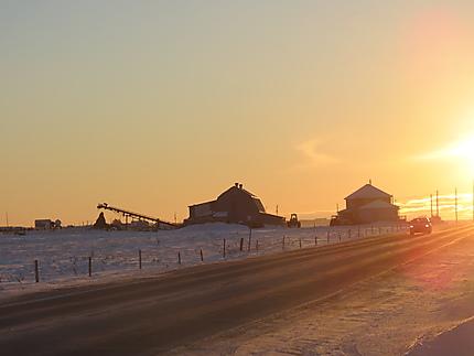 Coucher de soleil à Ste-Flavie