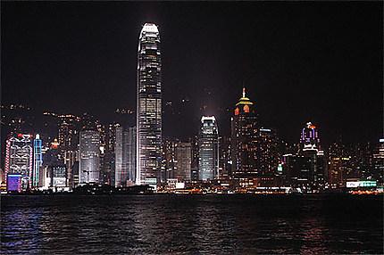 Hong Kong skyline la nuit