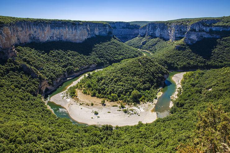 Les gorges de l'Ardèche (Ardèche)