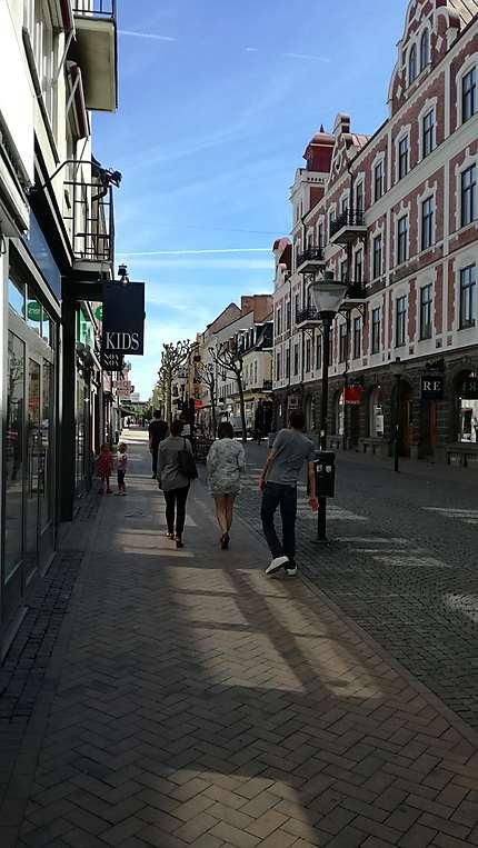 Rue du centre-ville de Kristianstad